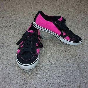 Vans Sneakers Pink Black Women's 10 V Side